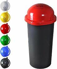 KUEFA 60L - Mülleimer Müllsackständer mit Laserbeschriftung (Rot, Pfandflaschen)