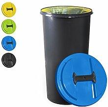KUEFA BSC6 - 60L Mülleimer / Müllsackständer / Gelber Sack Ständer (Blau)