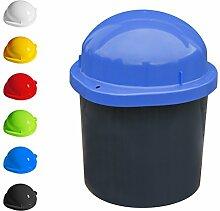 KUEFA DUO Mini - Wetterfester Mülleimer / Aufbewahrungsbehälter / Sammeltonne (Blau)