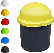 KUEFA DUO Mini - Wetterfester Mülleimer / Aufbewahrungsbehälter / Sammeltonne (Gelb)