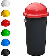 KUEFA Mülleimer / Gelber Sack Ständer - abschließbar (Rot)