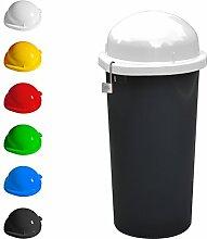 KUEFA Mülleimer / Gelber Sack Ständer - abschließbar (Weiss)