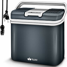 Kühlbox elektrisch 24L Grau   Mini-Kühlschrank