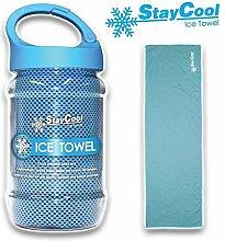 Kühlende Eis Handtuch in praktischer Dose mit Karabiner - Stay Cool Ice Towel