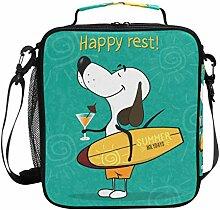 Kühler Lunch Box Cartoon niedlichen Hund hält