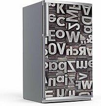 Kühlschrank 60x120 cm Kühlschrankdekor Einbauküchen   Dekorfolien Kühlschrank-Aufkleber Folie Tapete abwaschbar Kühlschrank verschönern   Design Motiv Alphabe