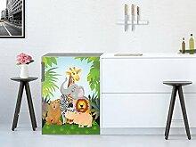 Kühlschrank-Aufkleber / Küchenfolie Kühlschrank 60x80 cm / Design Sticker Wild Animals / selbstklebende Dekoration