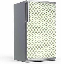 Kühlschrank-Druck 60 x 120 cm | Sticker Aufkleber Folie Wandposter XXL Wohnen und Dekorieren | Muster Ornament Retro Pattern - Grün
