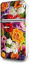 Kühlschrank-Folie Bunte Blumen selbstklebend