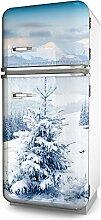 Kühlschrank-Folie Snow selbstklebend mehrere