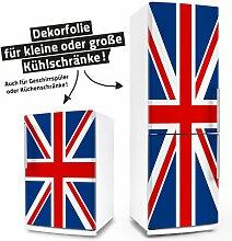Kühlschrank- & Geschirrspüler-Folie --- Union Jack --- Dekorfolie Aufkleber Klebefolie Fron