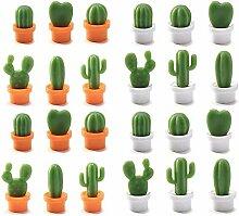 Kühlschrank-Magnet-Aufkleber Kaktus, 24 Stück