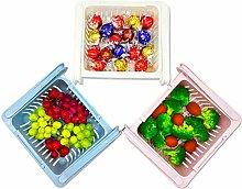 Kühlschrank-Schubladen-Organizer, 3er-Pack,