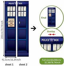 Kühlschrank und Tür Aufkleber Polizei Box Tür