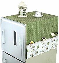Kühlschrank / Waschmaschine Schutz Staubige Abdeckung Kühlschrank Handtuch-A8