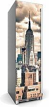 Kühlschrankdeko Kühlschrank 60x180 cm   Dekoration Kühlschrank-Aufkleber Folie Tapete selbstklebend Kühlschrank überkleben Küche   Design Motiv Skyline NYC