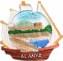 Kühlschrankmagnet Alanya Türkei 3D Harz