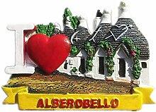 Kühlschrankmagnet Alberobello Italien 3D Harz