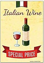 Kühlschrankmagnet Bar Party Italienischer Wein