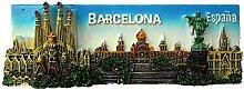Kühlschrankmagnet Barcelona Spanien 3D Harz