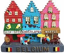 Kühlschrankmagnet Belgien 3D Harz Handgefertigte