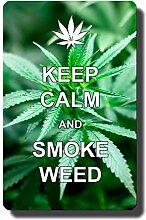 Kühlschrankmagnet Cannabis mit lustigem Spruch