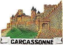 Kühlschrankmagnet Carcassonne Frankreich 3D Harz