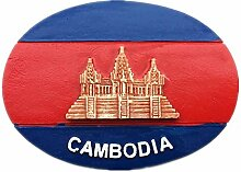 Kühlschrankmagnet Flagge Kambodscha 3D Harz