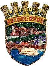 Kühlschrankmagnet Heidelberg Deutschland 3D Harz