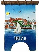 Kühlschrankmagnet Ibiza Spanien 3D Harz