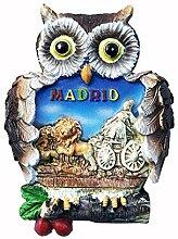 Kühlschrankmagnet in Eulenform, Madrid, Spanien,