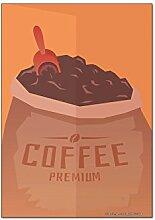 Kühlschrankmagnet Kaffee Cafe Bar Kaffee premium