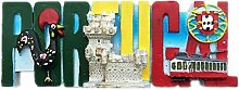Kühlschrankmagnet Lissabon Portugal 3D Harz