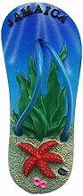 Kühlschrankmagnet mit 3D-Lamaika-Motiv,