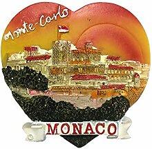Kühlschrankmagnet Monaco 3D Harz Handgefertigte