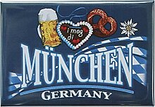 Kühlschrankmagnet - MÜNCHEN GERMANY BREZEL
