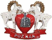 Kühlschrankmagnet Posen Polen 3D Harz