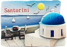 Kühlschrankmagnet Santorini Griechenland 3D Harz