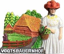 Kühlschrankmagnet Schwarzwald Vogtsbauernhof