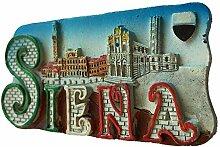 Kühlschrankmagnet Siena Italien 3D Harz