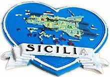 Kühlschrankmagnet Sizilien Italien 3D Harz