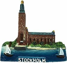 Kühlschrankmagnet Stockholm Schweden 3D Harz