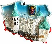 Kühlschrankmagnet Szezeein Polen 3D Harz