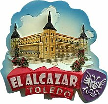 Kühlschrankmagnet Toledo Spanien 3D Harz