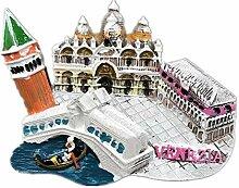 Kühlschrankmagnet Venezia Italien 3D Harz