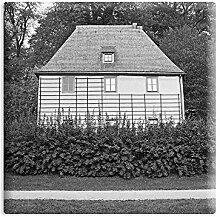 Kühlschrankmagnet Weimar - 5 x 5 cm - Magnet mit Fotokunst-Motiv: Goethes Gartenhaus - als Geschenk oder Souvenir