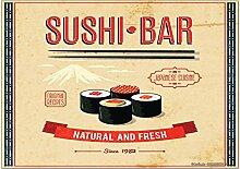 Kühlschrankmagnet Weltenbummler Sushi Bar
