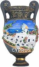 Kühlschrankmagnet Zypern 3D Harz Handgemachtes
