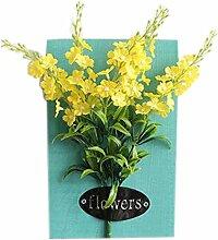 Künstlerische Künstliche Pflanze Ornamente Räume Wanddekoration, Gelbe Blumen