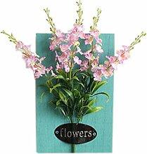 Künstlerische Künstliche Pflanze Ornamente Zimmer Wanddekoration, Schmetterling Blume